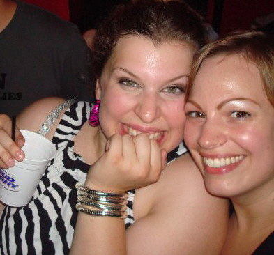 Me with my co-editor, Laura, at a Peaches concert in 2007.