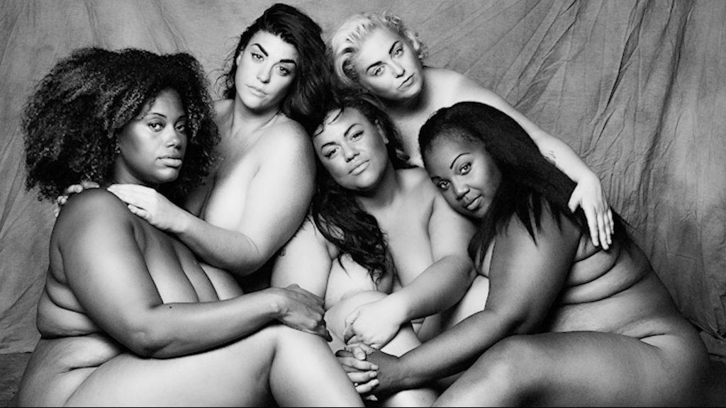 The Succulent Six A Curvy Line Left to right: Rachel Marcus, Ashley Sharman, Steff Ivory Conover, Belle Jumelles, Annika Reid