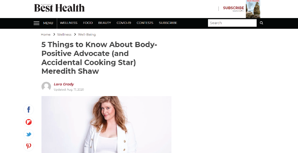 Best Health - 5 things to know about Meredith Shaw
