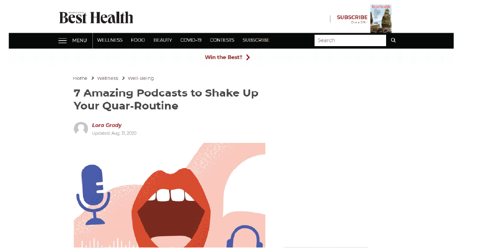 Best Health - 7 Amazing Podcasts to Shake Up Your Quar-Routine