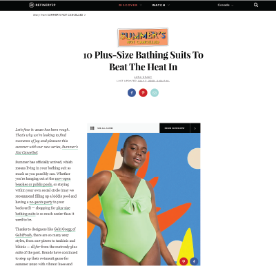 Refinery29 - 10 Plus Size Bathing Suits